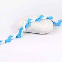 Náramek - Twister Blue-white
