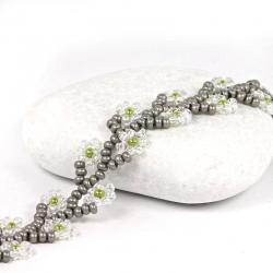 Náramek - Crystal flower