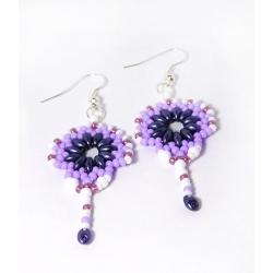 Náušnice - Orient lila